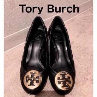トリーバーチ(Tory Burch)のトリーバーチ キルティングパンプス 黒 USサイズ5(ハイヒール/パンプス)