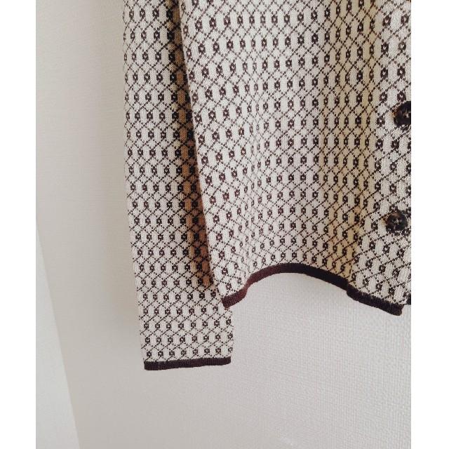 Lochie(ロキエ)の▷used 柄カーディガン レディースのトップス(カーディガン)の商品写真