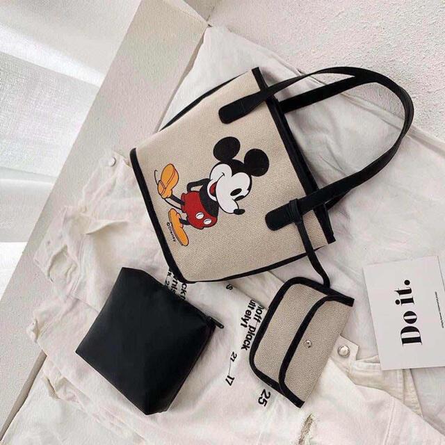 即購入OK☆ 人気可愛いミッキー トートバッグ 帆布 レディース  レディースのバッグ(トートバッグ)の商品写真