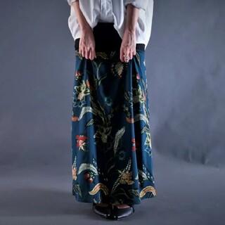 アンティカ(antiqua)のアンティカ 花柄 ボタニカル柄 ロングスカート(ロングスカート)