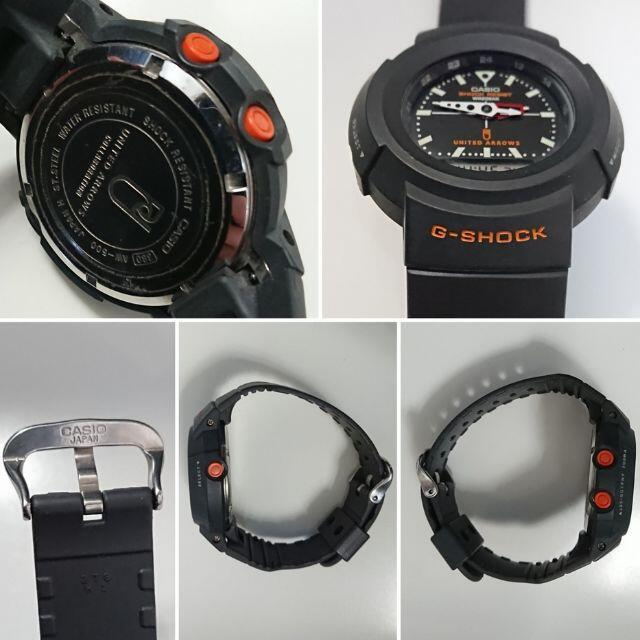 G-SHOCK(ジーショック)の8223 G-SHOCK UNITED ARROWS AW-500 ブラック メンズの時計(腕時計(アナログ))の商品写真
