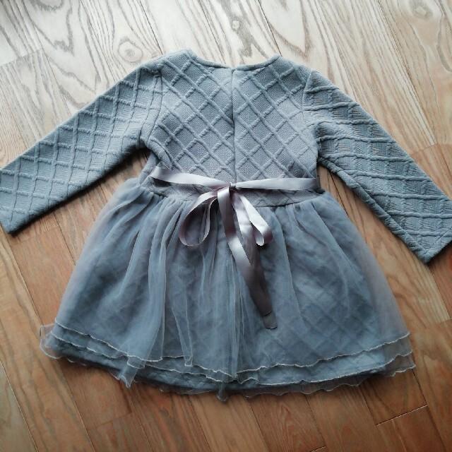 アンシャンテプティ チュールワンピース 110 キッズ/ベビー/マタニティのキッズ服女の子用(90cm~)(ワンピース)の商品写真