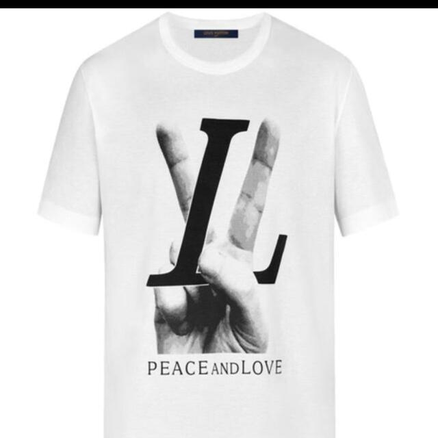 LOUIS VUITTON(ルイヴィトン)のルイ・ヴィトン PEACE AND LOVE Tシャツ ホワイト 白  メンズのトップス(Tシャツ/カットソー(半袖/袖なし))の商品写真