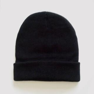 新品 ニット帽 ブラック【限定 現品限り】本日限定値下げ2222→1555(ニット帽/ビーニー)
