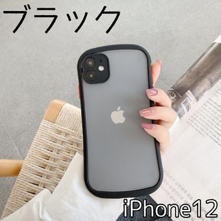 大人気★ ケース バンパースマホケース iPhone12 ブラック(iPhoneケース)