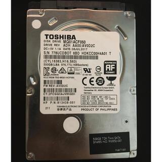 東芝 - TOSHIBA MQ01ACF050 500GB 中古 注意あり