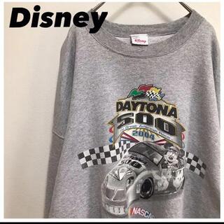 ディズニー(Disney)のDisneyディズニー•スウェット•グレー•トレーナー•ミッキープリント•2XL(スウェット)