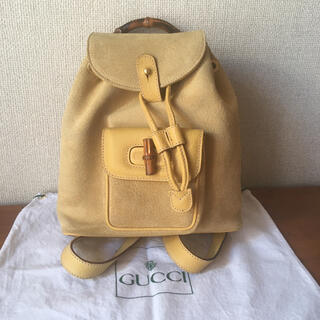 Gucci - GUCCI   オールドグッチ  バンブーリュック  スエード × レザー