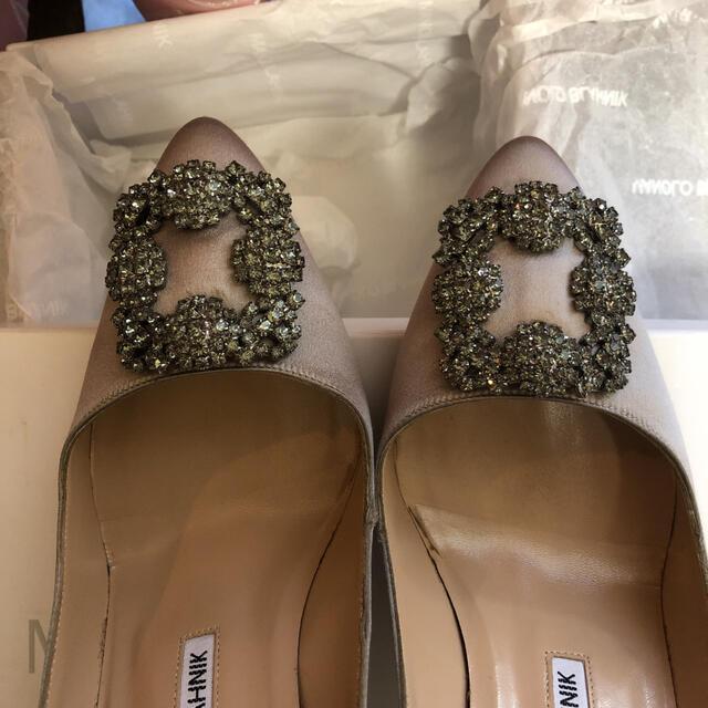 MANOLO BLAHNIK(マノロブラニク)のりう様ご専用 最終お値下!極美品!マノロブラニク♡王様ハンギシ♡絶妙上品カラー♡ レディースの靴/シューズ(ハイヒール/パンプス)の商品写真