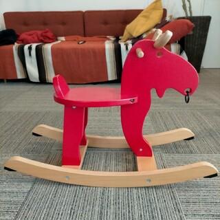 イケア(IKEA)のIKEA  木製 トナカイ 木馬 EKORRE(その他)
