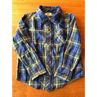 オールドネイビー(Old Navy)のオールドネイビー ネルシャツ 110(Tシャツ/カットソー)