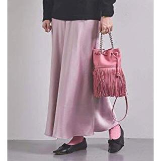 UNITED ARROWS - 美品☆UNITED ARROWS ユナイテッドアローズ サテンマキシスカート