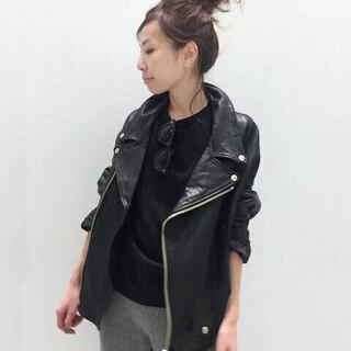 アパルトモンドゥーズィエムクラス(L'Appartement DEUXIEME CLASSE)の専用 L'Appartement  Lisiere Leather 34(ライダースジャケット)