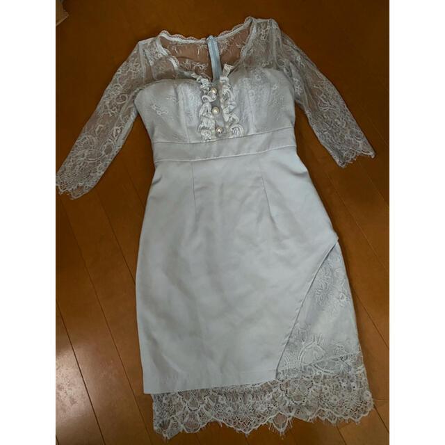 JEWELS(ジュエルズ)のJEWELS 水色 ミニドレス レディースのフォーマル/ドレス(ナイトドレス)の商品写真