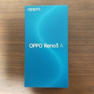 オッポ(OPPO)の【新品】OPPO Reno 3 A ブラック ワイモバイル版 SIMロック解除済(スマートフォン本体)