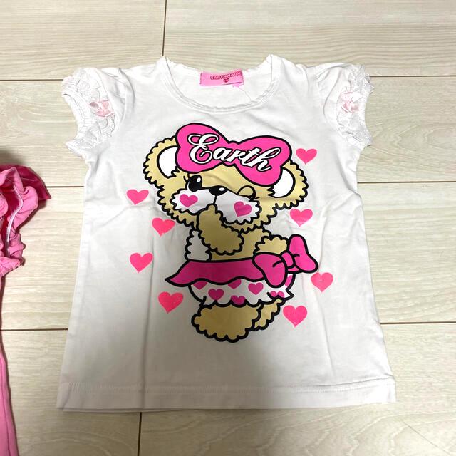 EARTHMAGIC(アースマジック)のアースマジック❤️半袖セット120.130 キッズ/ベビー/マタニティのキッズ服女の子用(90cm~)(Tシャツ/カットソー)の商品写真