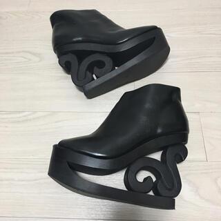 ジェフリーキャンベル(JEFFREY CAMPBELL)のJeffrey Campbell スケート オープントゥ ブーツ 38 黒(ブーツ)