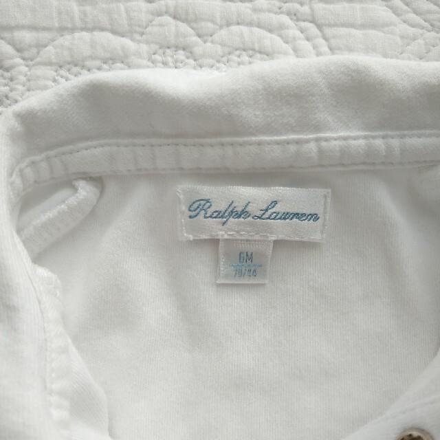 Ralph Lauren(ラルフローレン)のラルフローレン 丸襟 ロンパース 70 キッズ/ベビー/マタニティのベビー服(~85cm)(ロンパース)の商品写真