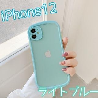大人気★ ケース バンパースマホケース iPhone12 ライトブルー(iPhoneケース)