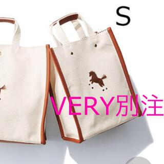 Drawer - VERY別注 seventen ワンポイント刺繍トートバッグ 馬刺繍 S 新品