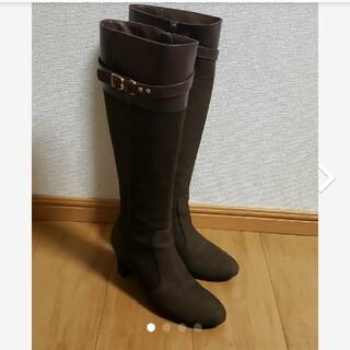 BARCLAY - 美品本革バークレー膝丈ロングブーツ