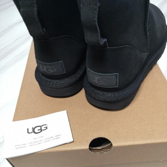 UGG(アグ)のアグ ブーツ UGG 25センチ US8 ムートンブーツ ブラック 新品 レディースの靴/シューズ(ブーツ)の商品写真