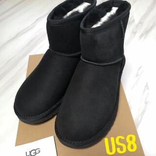 UGG - アグ ブーツ UGG 25センチ US8 ムートンブーツ ブラック 新品