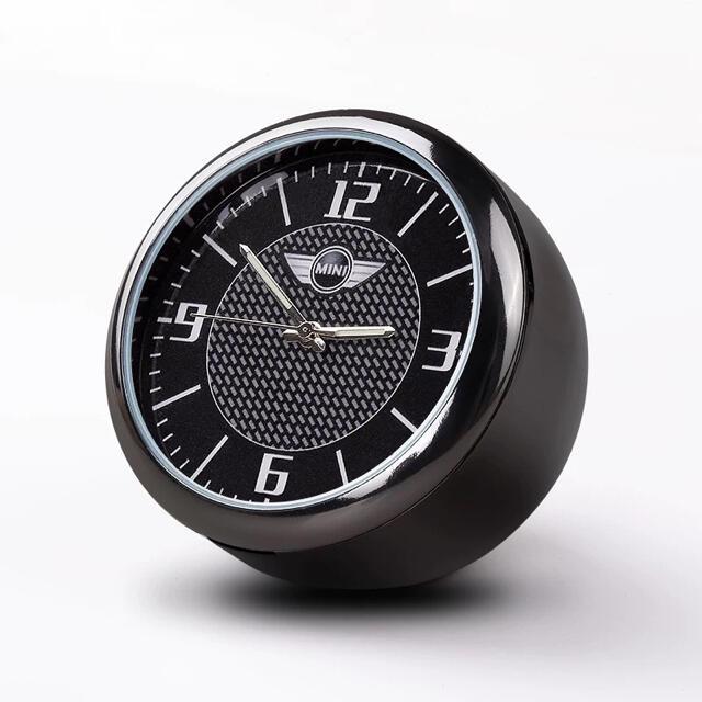 ミニ MINI クオーツ時計 車載用 エアコン吹き出し口 オンボード 自動車/バイクの自動車(車内アクセサリ)の商品写真