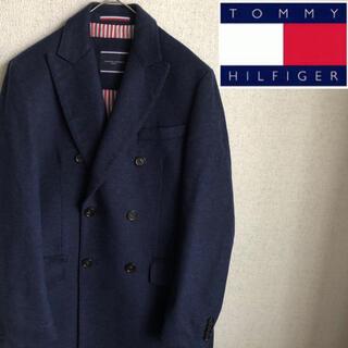 TOMMY HILFIGER - 新品未使用品 TOMMY HILFIGER ウール ロング コート 48 紺