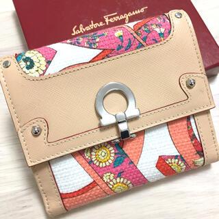 Salvatore Ferragamo - フェラガモ ボタニカル柄 花柄 二つ折り財布 ガンチーニ
