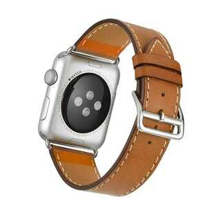 【B12】Apple Watch 本革バンド(ブラウン) 38/40mm