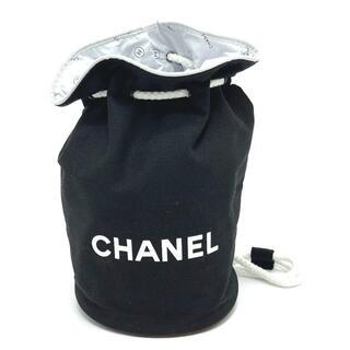 CHANEL - シャネル ノベルティ ショルダーバッグ ロゴ 巾着 ブラック×ホワイト