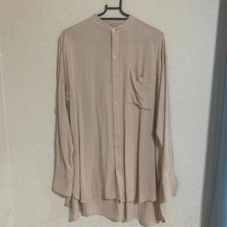 mysty woman - ミスティウーマン ノーカラーシャツ バンドカラーシャツ