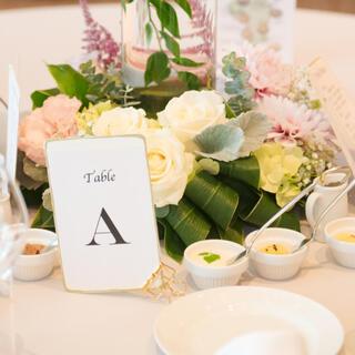 ウェディング 結婚式 テーブルナンバー ゴールドクリップ