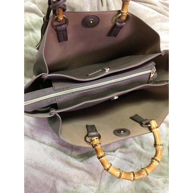 ROPE(ロペ)のバンブーハンドルバッグ☆プチプラのあやさんおすすめ レディースのバッグ(ハンドバッグ)の商品写真
