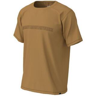 マーモット(MARMOT)のMarmotマーモット 半袖シャツ クライムウールハーフスリーブクルー茶メンズM(Tシャツ/カットソー(半袖/袖なし))