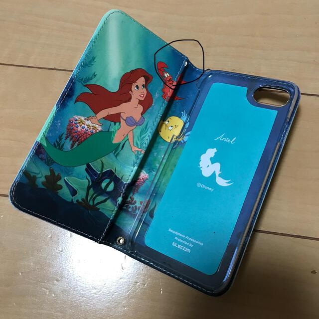Disney(ディズニー)のディズニー アリエル iPhone7 折りたたみケータイカバーケース スマホ/家電/カメラのスマホアクセサリー(iPhoneケース)の商品写真