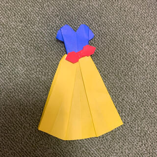 折り紙 白雪姫ドレス(その他)