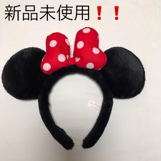 ディズニー(Disney)の【新品未使用❗️】Disney ミニー ミニーちゃん カチューシャ(遊園地/テーマパーク)