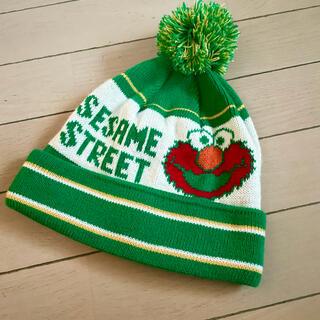 セサミストリート(SESAME STREET)のセサミ エルモ ニット帽 フリーサイズ(キャラクターグッズ)