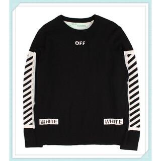 OFF-WHITE - OFF-WHITE オフホワイト メンズ ニットセーター ダイアゴナル 黒 L