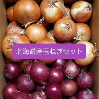 北海道産赤玉ねぎ【アーリーレッド】+玉ねぎ セット各5(野菜)