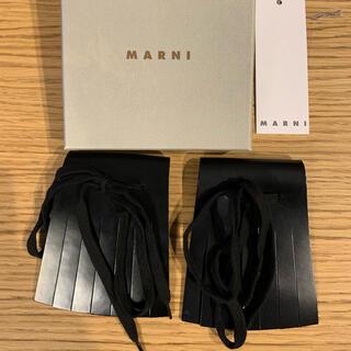 マルニ(Marni)のマルニ marni シューズ用レザーフリンジ 黒(その他)