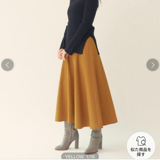 green label relaxing(グリーンレーベルリラクシング)の[EMMEL REFINES]新品タグ付きフレアスカート♪ レディースのスカート(ロングスカート)の商品写真