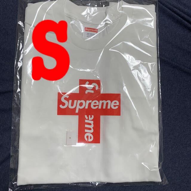 Supreme(シュプリーム)の【Sサイズ】supreme cross box logo tee white メンズのトップス(Tシャツ/カットソー(半袖/袖なし))の商品写真