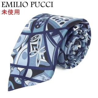 エミリオプッチ(EMILIO PUCCI)のエミリオプッチ 未使用 メンズ 総柄 シルク 100% ネクタイ(ネクタイ)