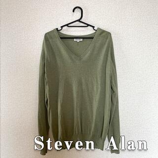 スティーブンアラン(steven alan)のSteven Alan スティーブンアラン Vネック コットンセーター Lサイズ(ニット/セーター)