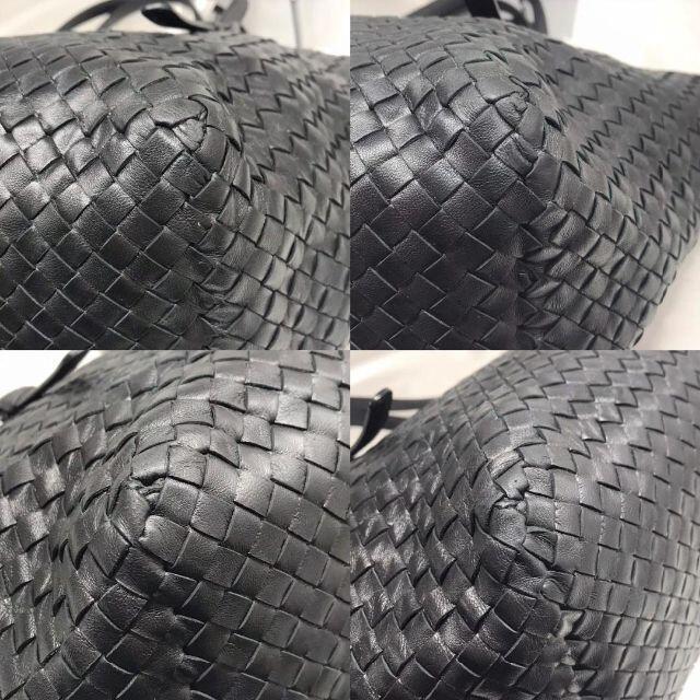 Bottega Veneta(ボッテガヴェネタ)の美品★ ボッテガヴェネタ トートバッグ 黒 イントレチャート レディースのバッグ(トートバッグ)の商品写真