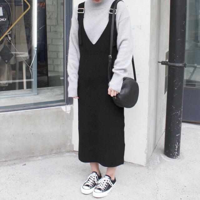 IENA SLOBE(イエナスローブ)のスローブイエナ  ニットジャンパースカート  レディースのワンピース(ロングワンピース/マキシワンピース)の商品写真