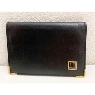 ダンヒル(Dunhill)のダンヒル スペイン製 カードケース 名刺入れ レザー 黒(名刺入れ/定期入れ)